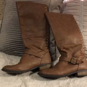 Justice girls brown riding boots.